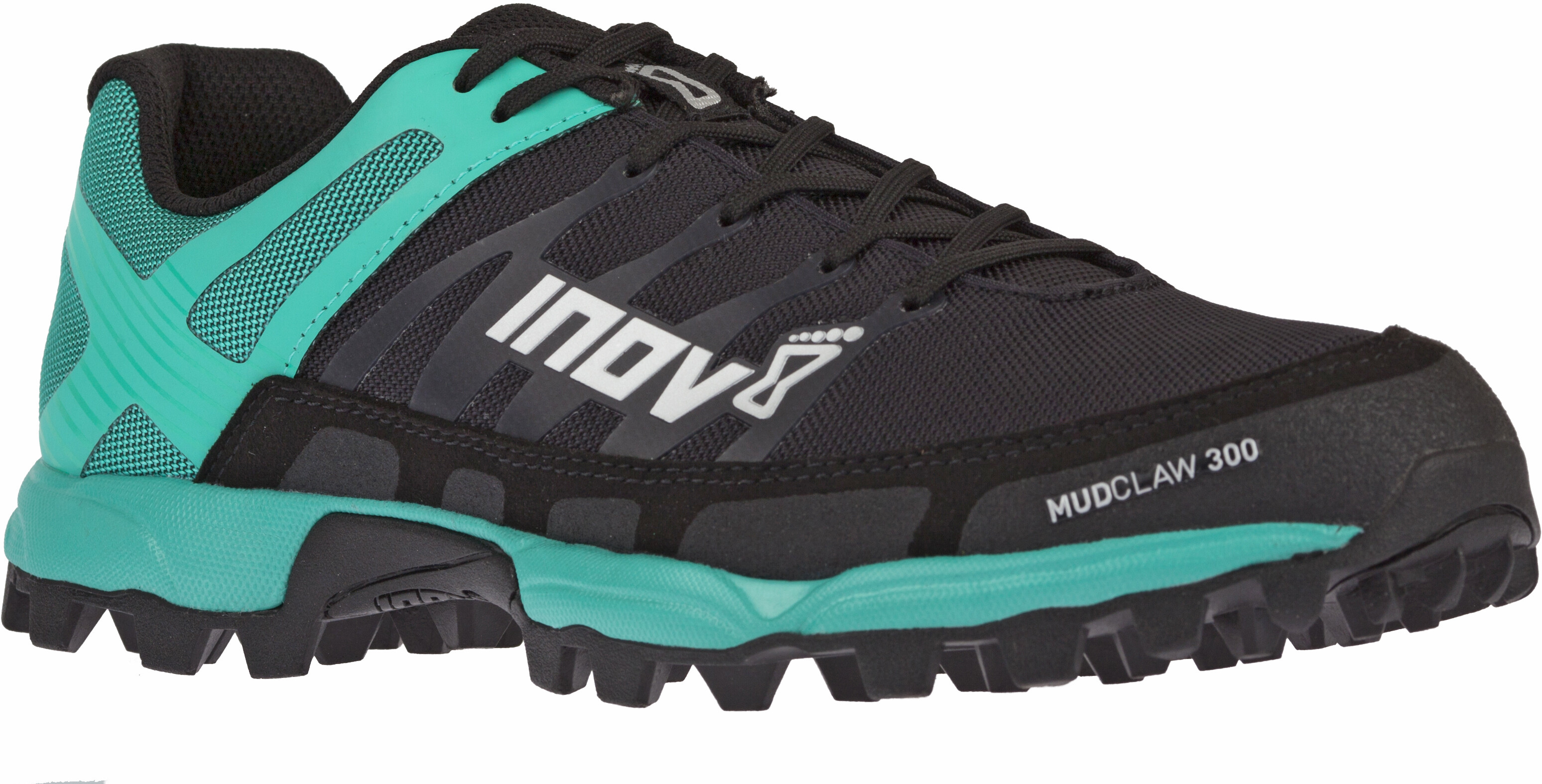 4776ddce393 inov-8 W's Mudclaw 300 Running Shoes Black/Teal - addnature.com